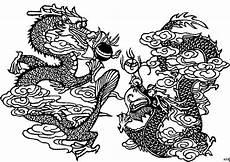 Ausmalbilder Japanische Drachen Japanische Drachen Ausmalbild Malvorlage Blumen