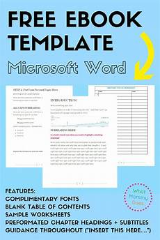 Book Templates For Microsoft Word Free Ebook Template Preformatted Word Document What