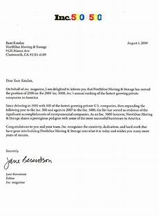 Winning Cover Letters In5000 2009 Award Cover Letter