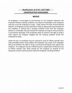 Constructive Discharge Letter Constructive Discharge Resignation Letter Sample Sample
