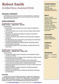 Certified Nursing Assistant Duties Resume Cna Resumes With Experience