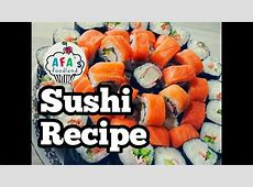 Sushi recipe. Sushi at home I Afa's foodland   YouTube