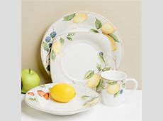 Red Vanilla Fruit Salad 16 piece Dinnerware Set