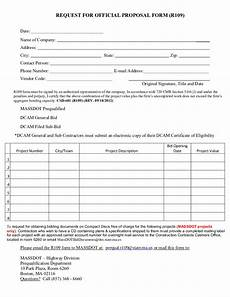 Sample Bidding Form Sample Request For Proposal Template Edit Fill Sign