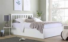 white wooden ottoman bed small only 163 349 99