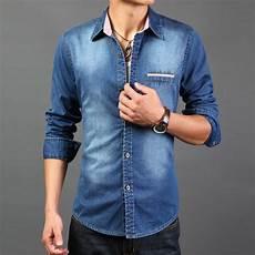 sleeve denim shirt 2016 high quality sleeve denim shirts casual