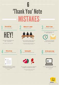 How Long After An Interview 6 Thank You Note Mistakes Infographic Careerbliss