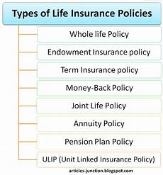 Different Types Of Life Insurance Chart Articles Junction Types Of Life Insurance Policies Life