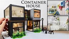 diy miniature modern container house