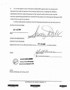 Notary Signatures Examples Sample Notary Statements Template Business