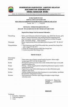 contoh sk hut ri ke 68 dsa banjar suri kecamatan sidomulyo