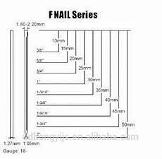 18 Gauge Brad Nail Size Chart 18 Gauge F Type Brad Nail Air Nail Buy Wire Brad Nail 18