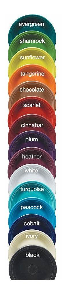 Fiesta Dishes Color Chart Fiestaware Color Chart One Of The Greatest Part About