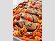 One Pan Balsamic Chicken and Veggies   I Heart Nap Time