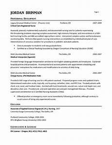 Emergency Room Rn Resumes Er Nurse Resume Example