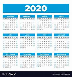 Images For Calendar 2020 Simple 2020 Year Calendar Royalty Free Vector Image
