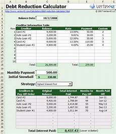 Debt Snowball Calculator Financial Templates Debt Reduction Snowball Calculator
