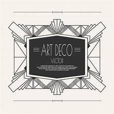 Art Deco Vector Art Deco Vintage Frame Download Free Vectors Clipart