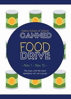 Can Food Drive Flyer Solano Canned Food Drive Flyer Catapult Learning