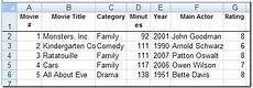 Movie Database Spreadsheet Create A Movie Collection Database In Excel Contextures Blog