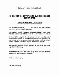Sample Of No Objection Letter From Employer Image Result For Noc From Company Format Noc Pinterest