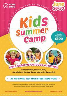 Summer Camp Pamplets Kids Summer Camp Flyer 02 By Vynetta Graphicriver