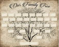 Family Tree Outlines Free Custom Family Tree Printable 5 Generation Template Instant