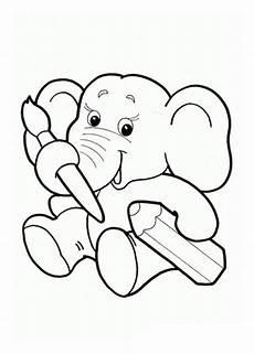 malvorlagen zum ausdrucken ausmalbilder elefant kostenlos 5