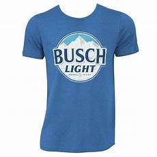 Busch Light Costume Busch Light Men S Heather Blue Round Logo T Shirt
