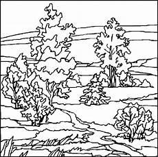 landschaften malvorlagen