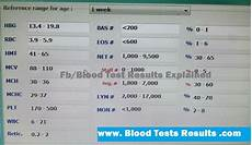 Cbc Test Normal Values Chart Normal Cbc Values For 1 Weeks Baby With Differential
