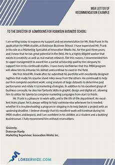 Letters Of Recommendation For Mba Letter Of Recommendation For Mba Program Sample