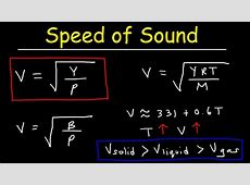 Speed of Sound in Solids, Liquids, and Gases   Physics