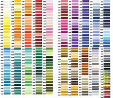 Dmc Rayon Floss Color Chart Thorough Exquisite Thread Conversion Chart Color Chart For