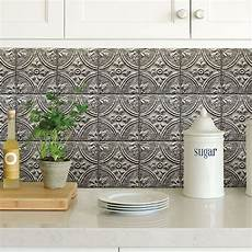 peel and stick kitchen backsplash tiles bhf2774 silver tin tile peel and stick backsplash by