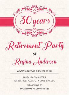 Template For Retirement Party Invitation Sample Retirement Party Invitation Design Template In Psd