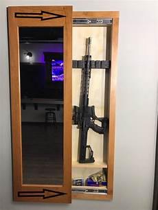 storage mirror in wall gun safe secret cabinet