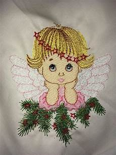 Christmas Angel Designs Thoughtful Christmas Angel Embroidery Design