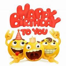 birthday emoji copy and paste happy birthday card with group of emojis cartoon