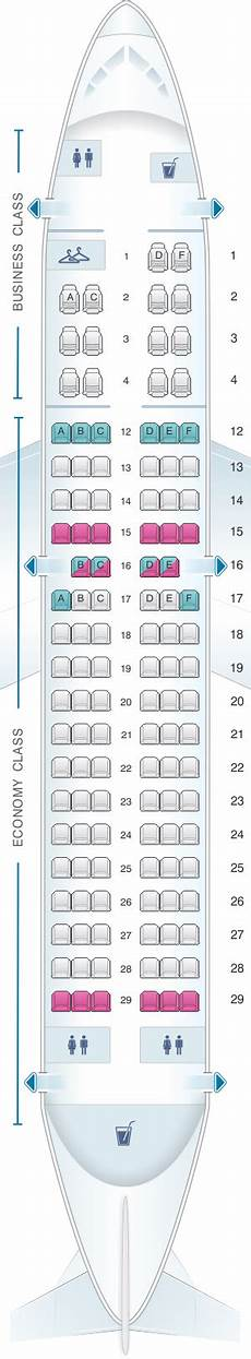Airbus A319 100 Seating Chart Plan De Cabine Air Canada Airbus A319 100 Config 1