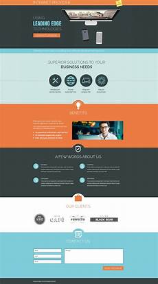 Video Landing Page Template Isp Responsive Landing Page Template 53666