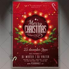 Free Christmas Flyer Psd Christmas Night Winter Flyer Psd Template Psdmarket