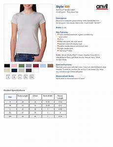 Anvil T Shirts Size Chart Anvil 498 Women S Organic Ringspun T Shirt 5 31 Women S