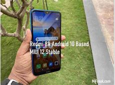 MIUI 12 Stable and Android 10 update for Redmi 8A