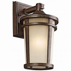 Kichler Outdoor Wall Light Kichler Outdoor Wall Light In Brown Stone Finish