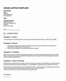 Cover Letter Template Examples 10 Cover Letter Templates And Examples Free Word Pdf