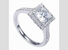 1.75cttw Princess Cut Halo Diamond Engagement Ring with