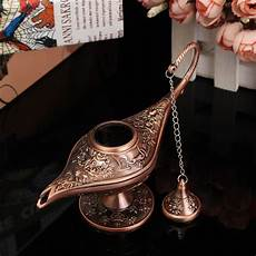 Genie Lamp Light In Car Mini Aladdin Magic Genie Light Copper Wishing Collectable