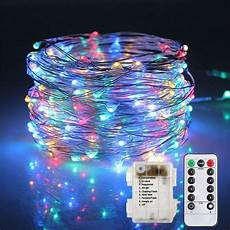 Battery Operated Led Lights With Remote 5m 10m Led String Lights Remote Control Battery Operated