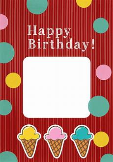 Photo Card Birthday Printable Ice Cream Birthday Card Add Your Own Photo
